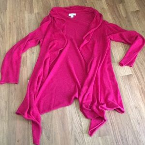 Loft Beautiful Pink Cardigan L